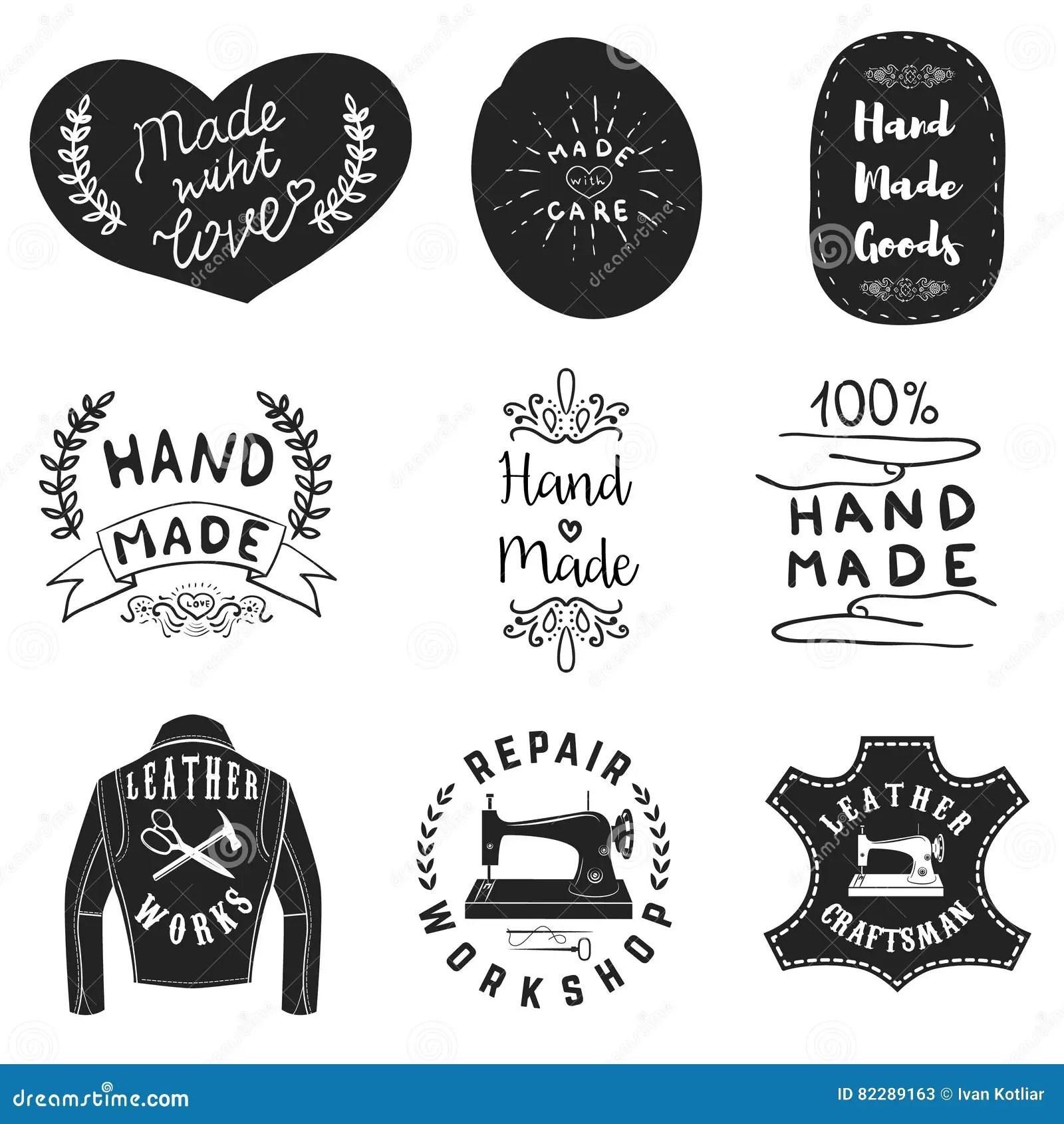 Handmade Products Labels Leather Workshop Emblems Design
