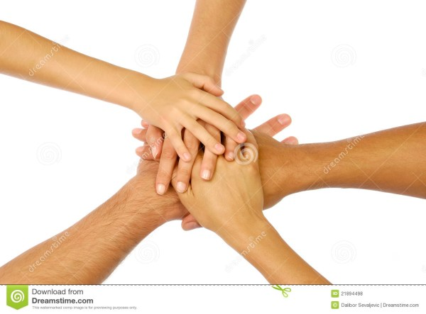 Hands Clasped In Circle Royalty Free Stock Photos Image