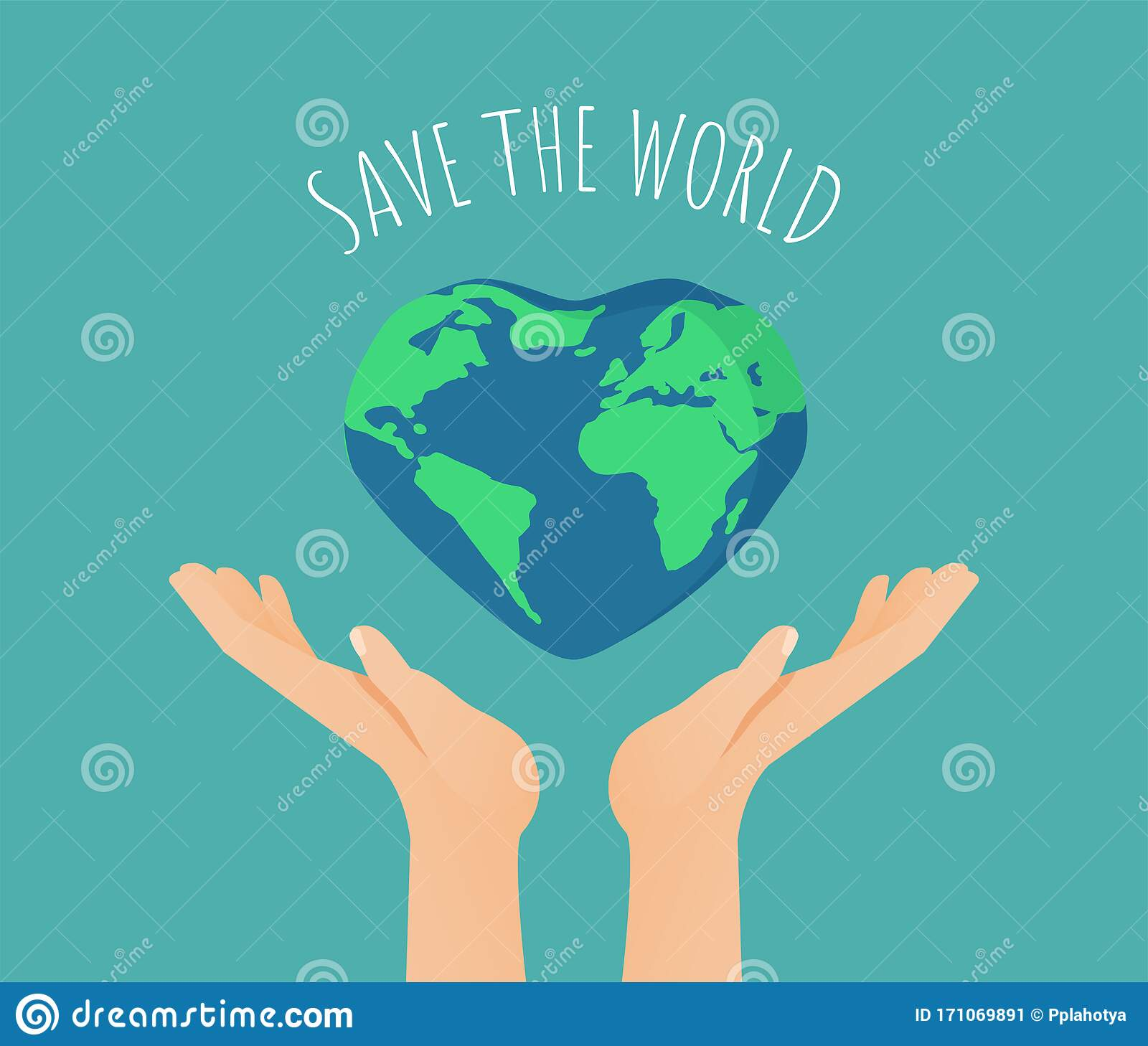 Happy Earth Day Or World Environment Day Poster Concept