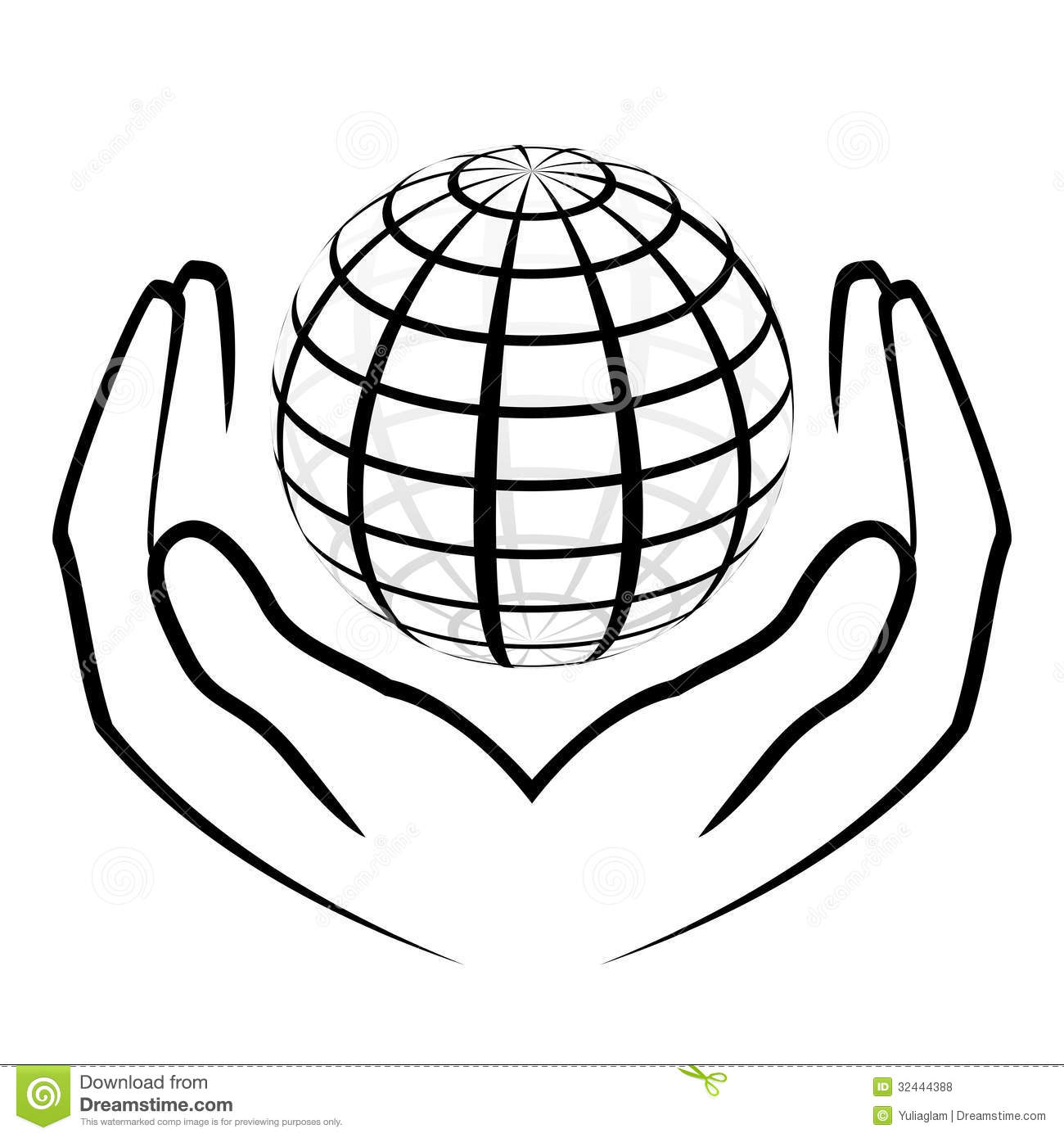 Hands Holding A Globe Stock Vector Image Of Charity