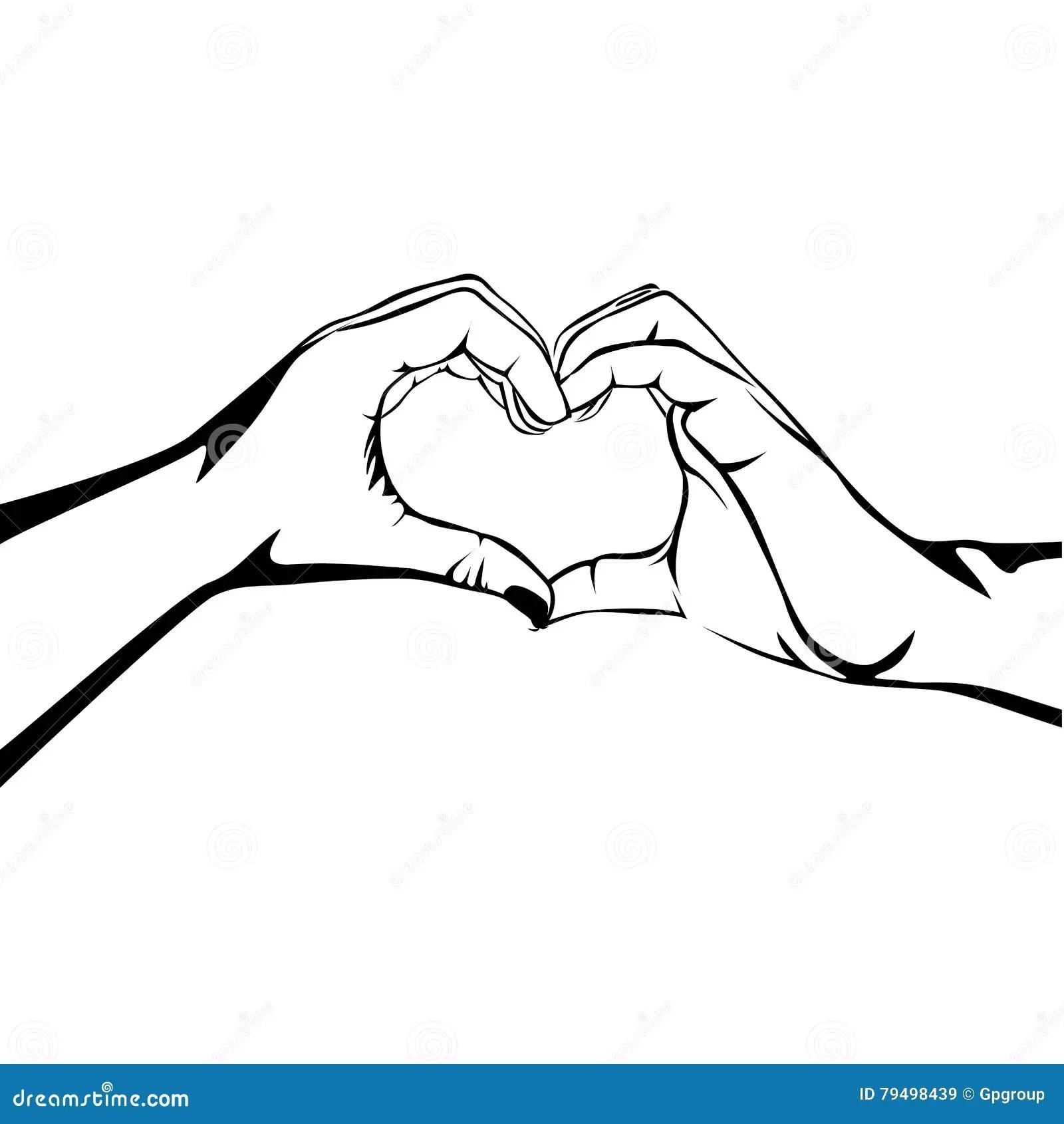 Hands Making Heart Gesture Image Stock Vector