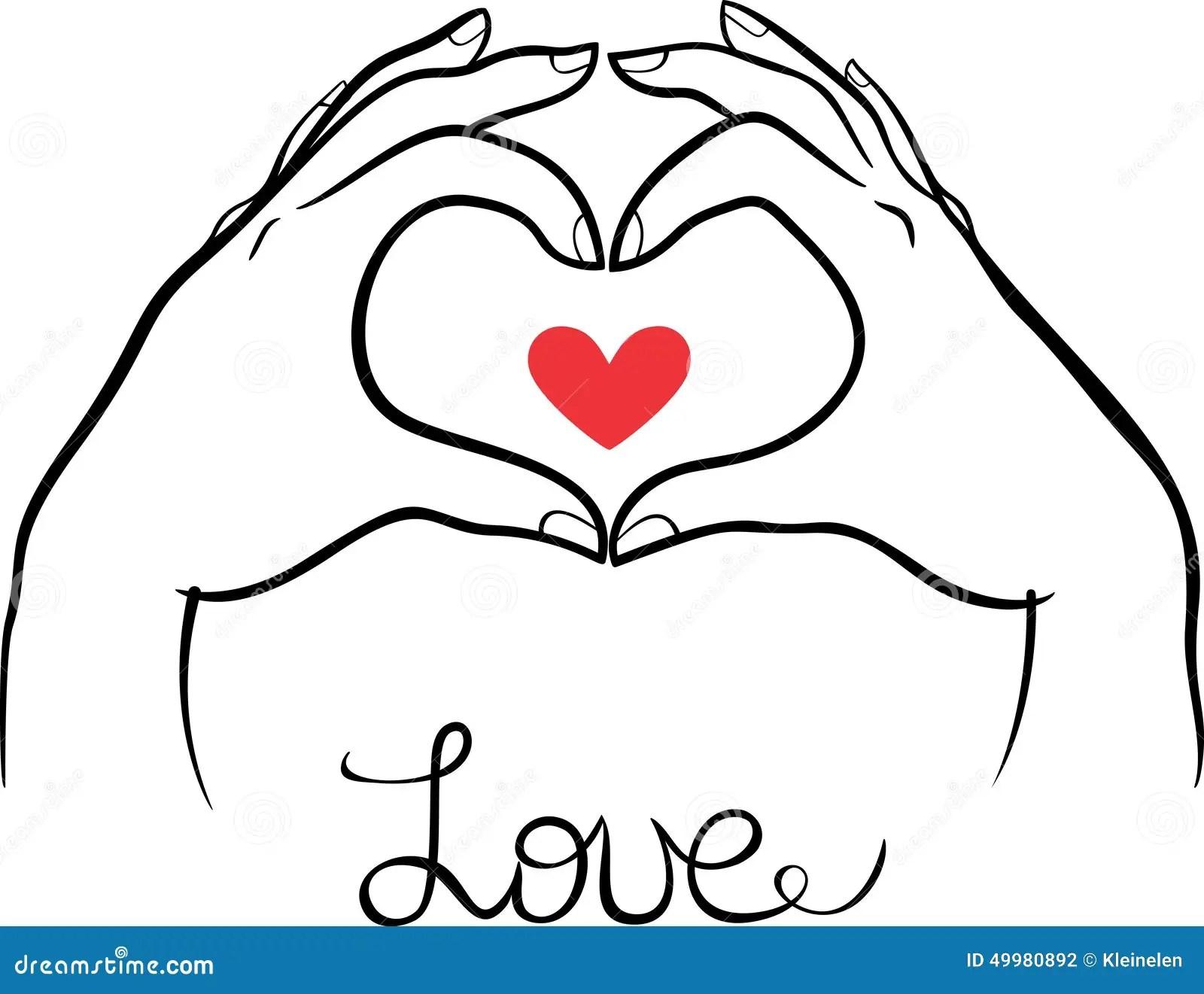 Hands Making A Heart Gesture Stock Vector