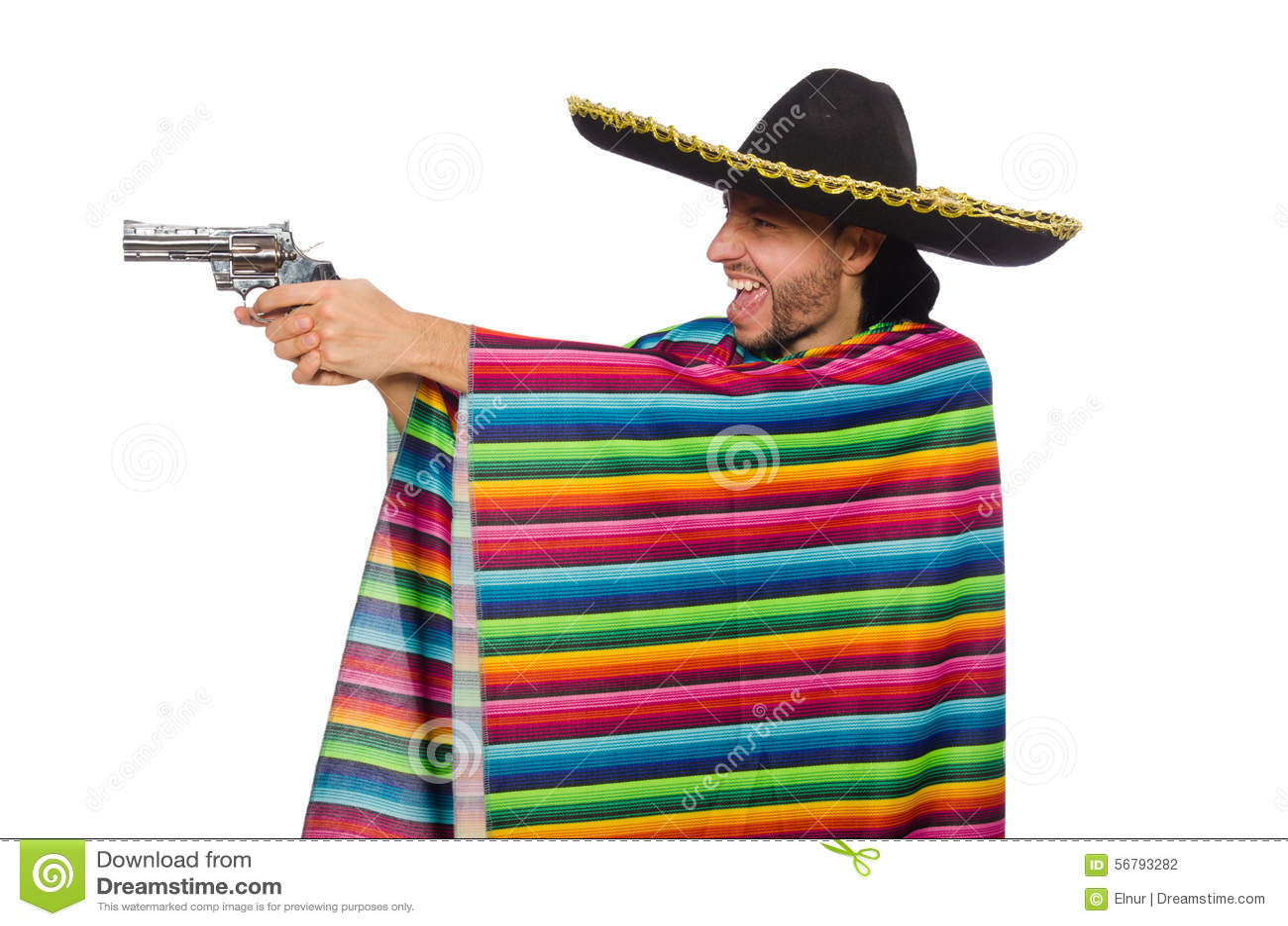And Poncho Sombrero Cartoon