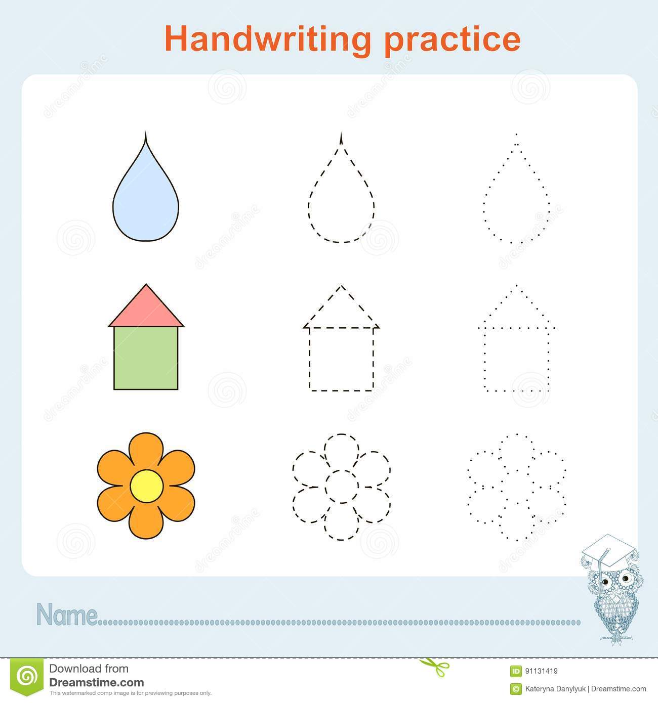 Handwriting Practice Games Kids Kids Activity Sheet