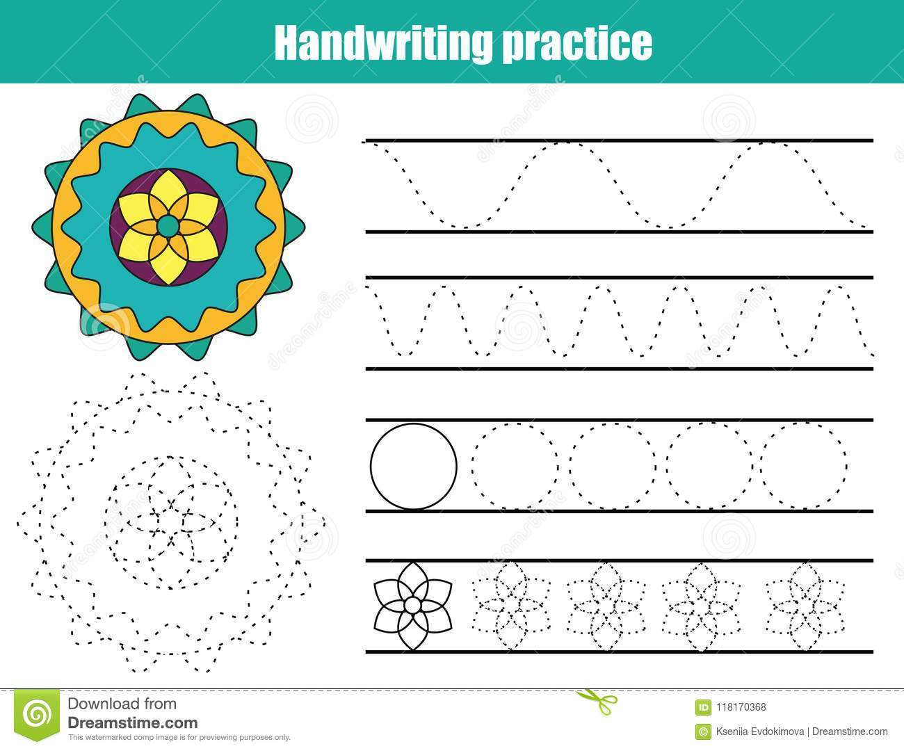Handwriting Practice Sheet Educational Children Game