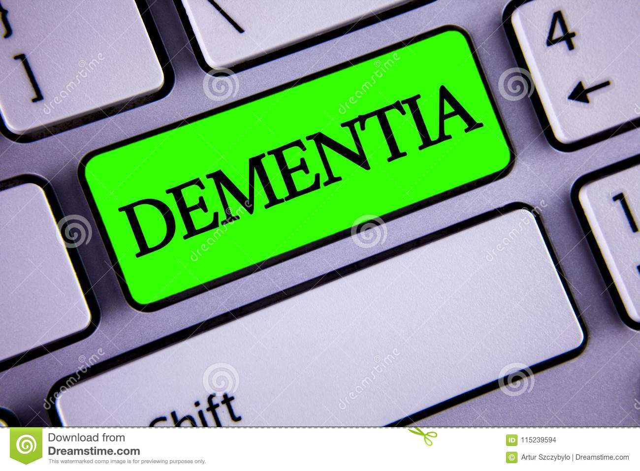 Handwriting Text Dementia Concept Meaning Long Term