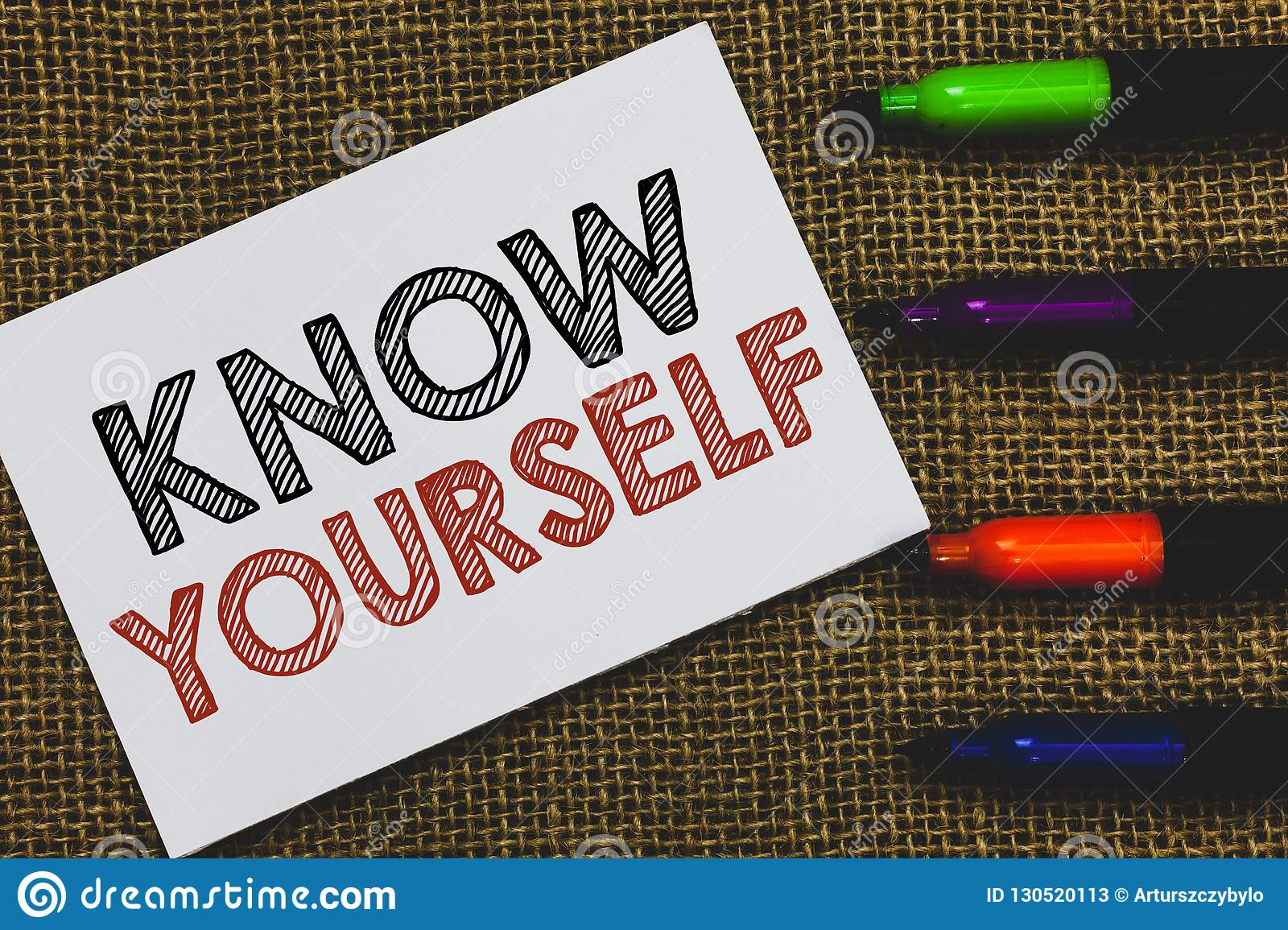Handwriting Text Know Yourself Concept Meaning Find You