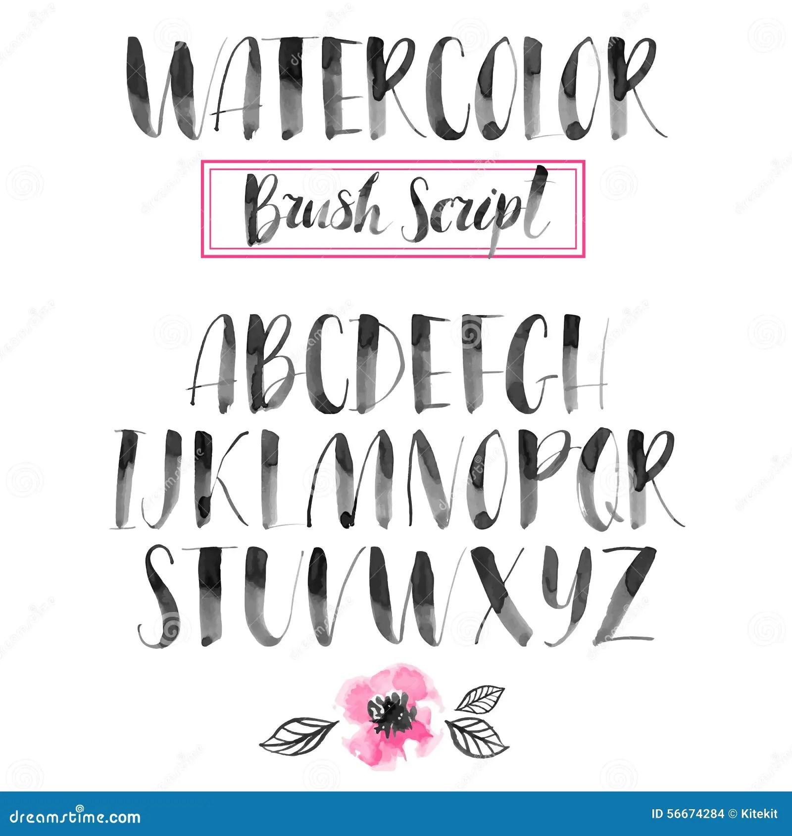 Handwritten Watercolor Calligraphic Font Modern Brush