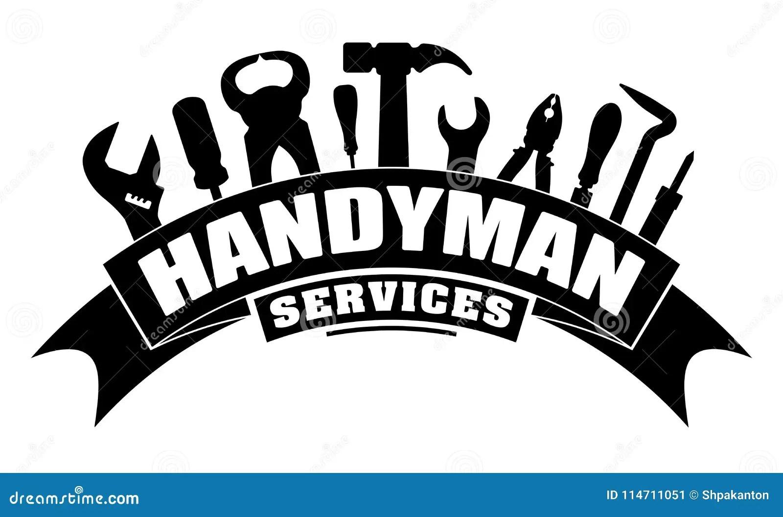 Handyman Services Vector Design For Your Logo Or Emblem