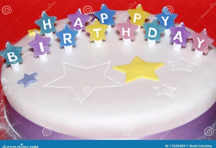 Happy Birthday Cake Stock Image Image Of Colour Wish 17039489