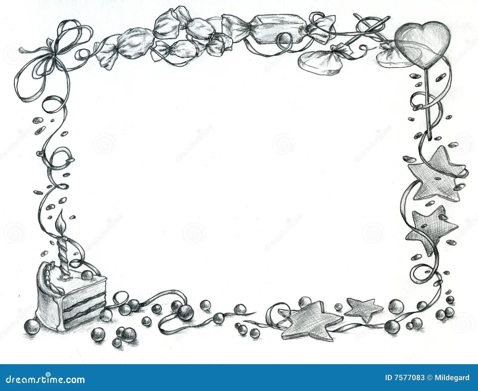 Happy Birthday Frame Stock Illustration Illustration Of