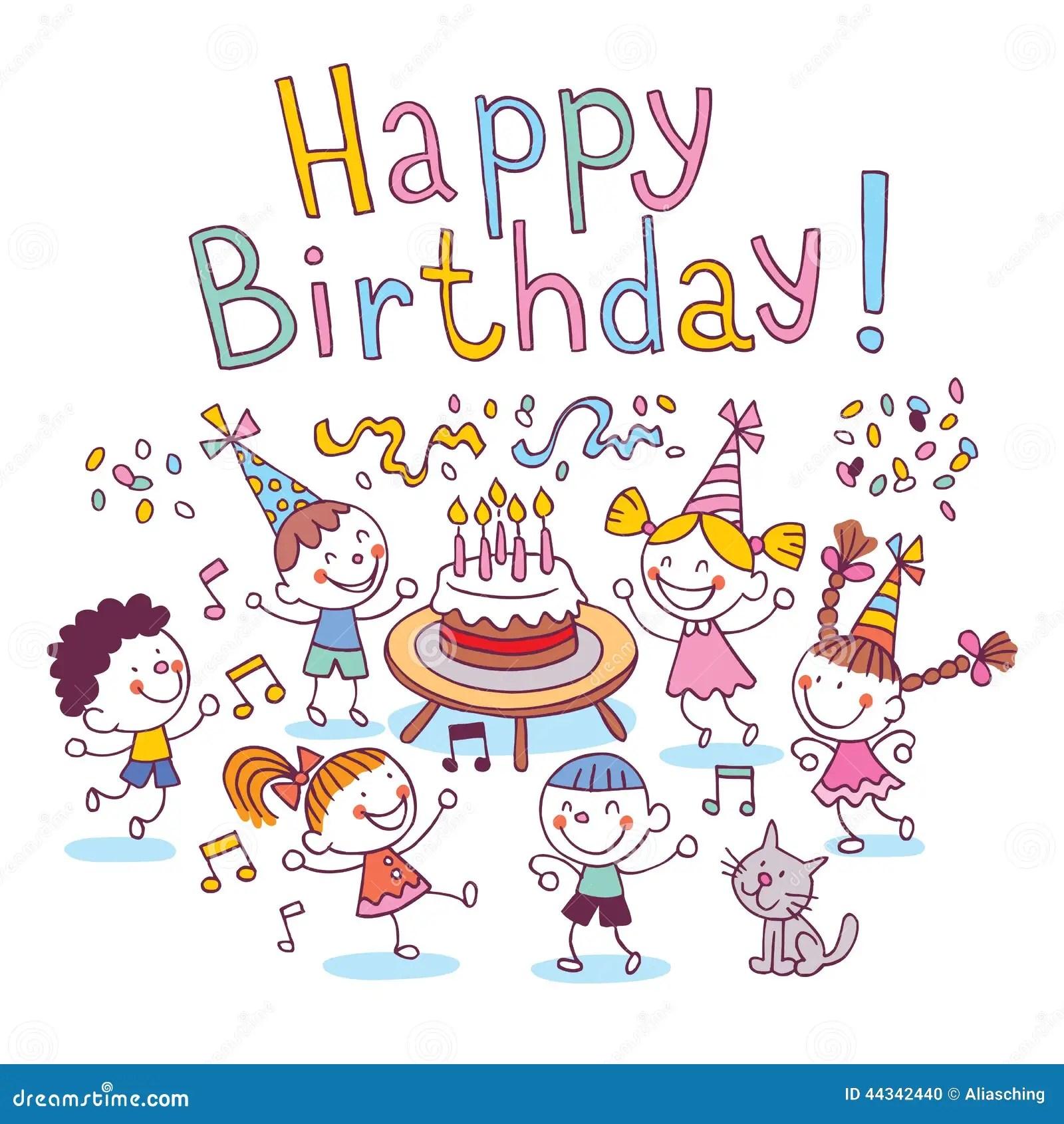 Happy Birthday Kids Stock Vector