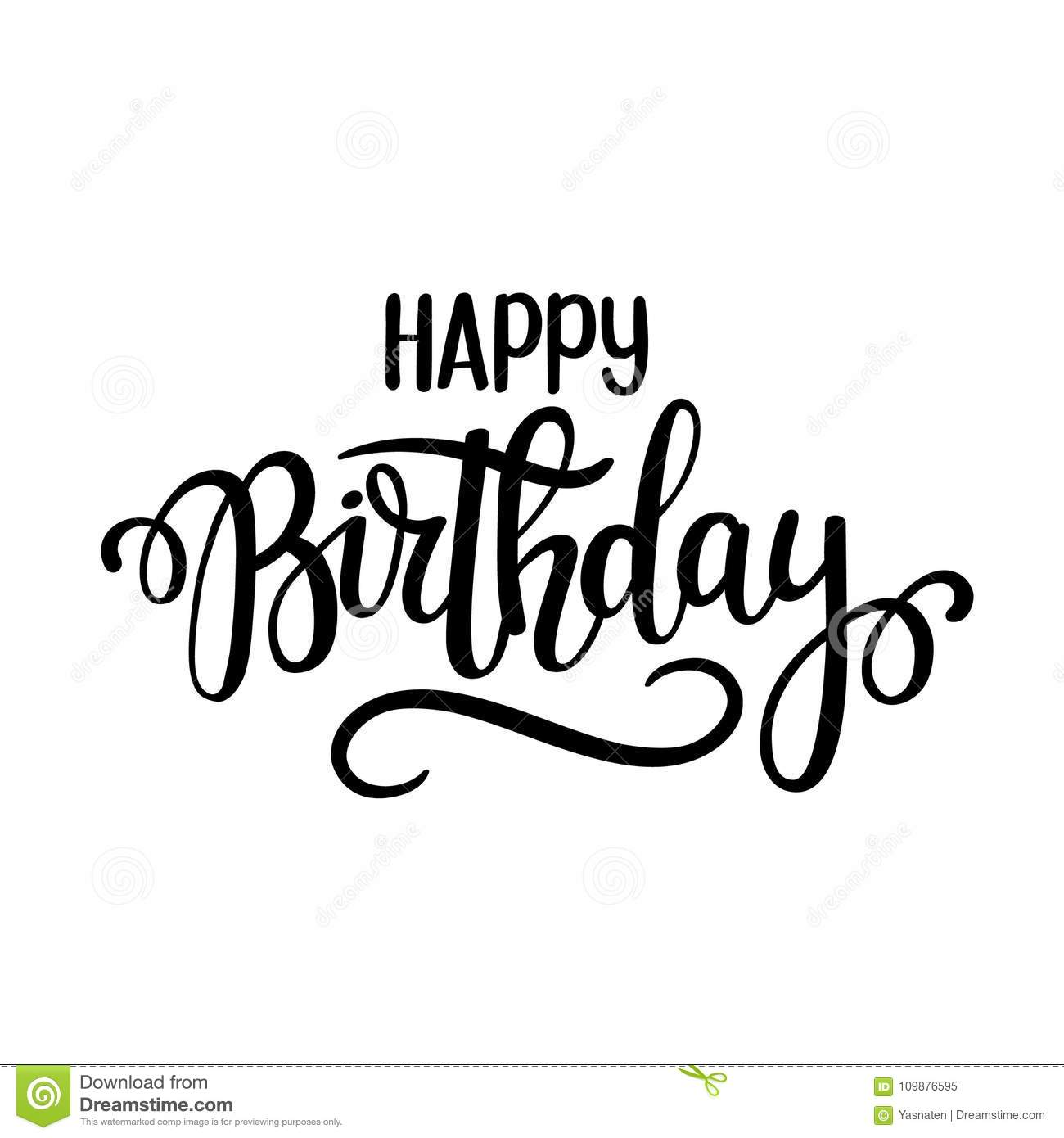 Happy Birthday Vector Lettering Design Posters Greeting