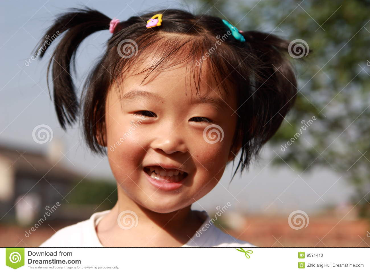 Happy Chinese Girl Stock Photo Image Of Little Spooky