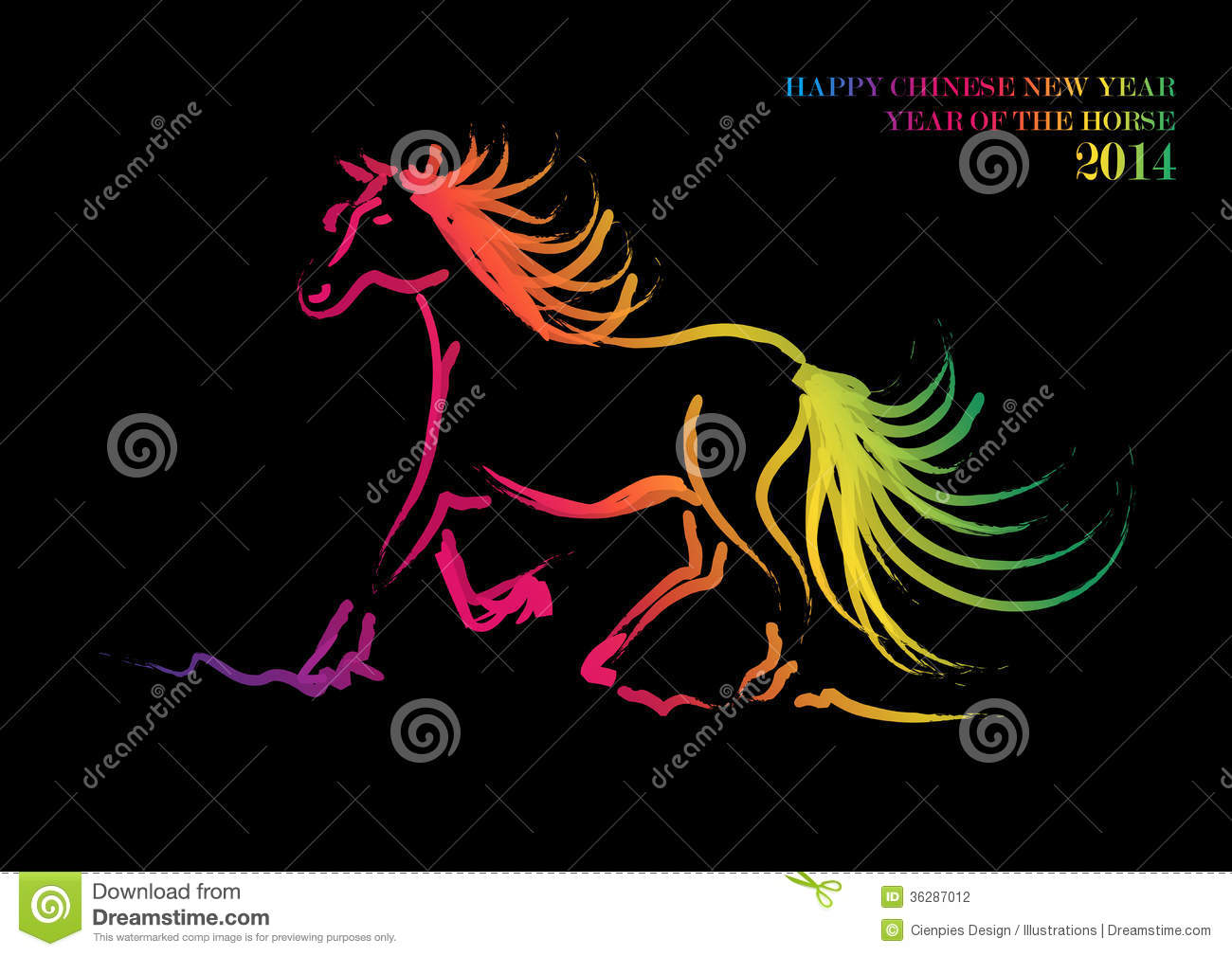 Happy Chinese New Year Of Horse Stock Photography
