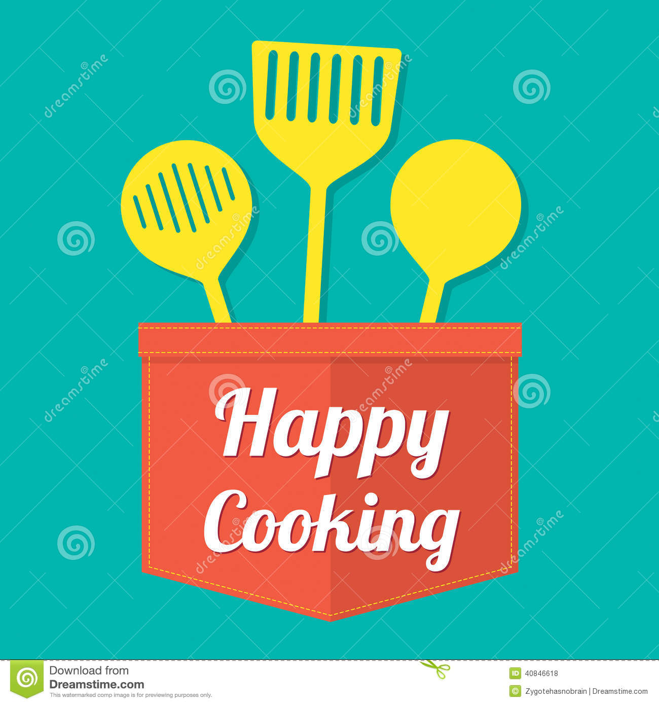 Happy Cooking Stock Vector Image Of Design Icon Concept
