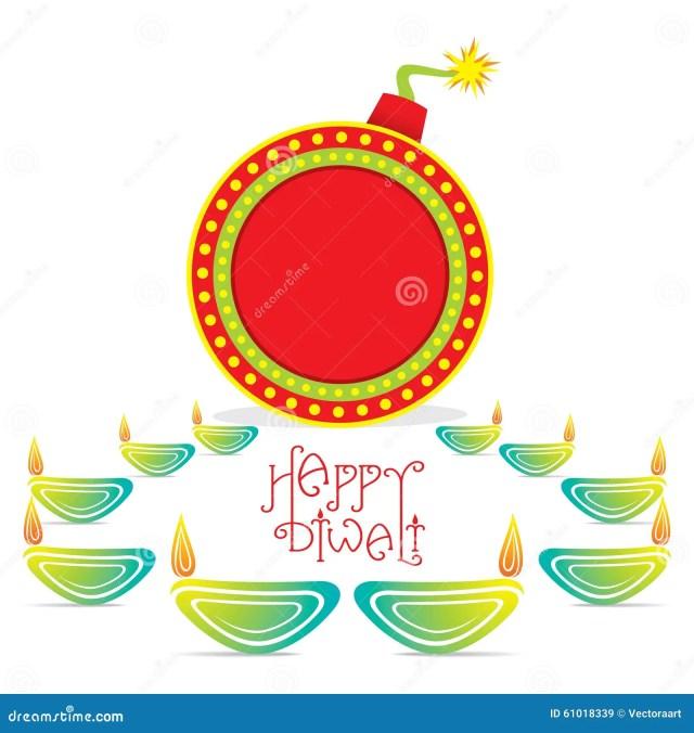 Happy Diwali Greeting Design Stock Vector - Illustration of
