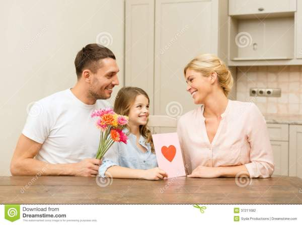 Happy Family Celebrating Mothers Day Stock Photography ...