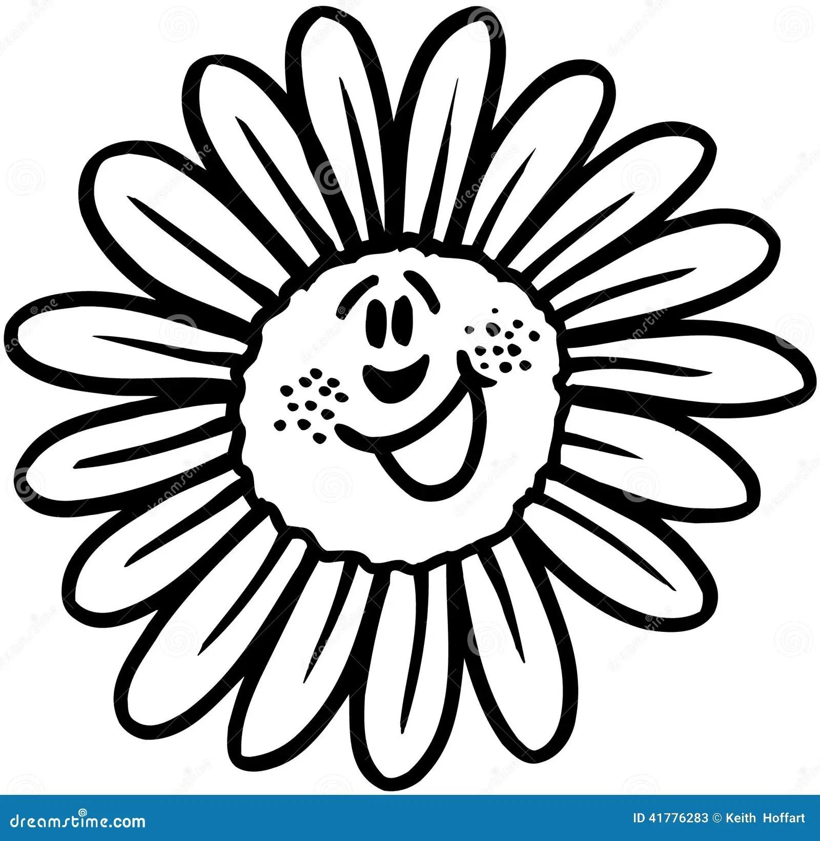 Happy Flower Cartoon Vector Clipart Stock Vector