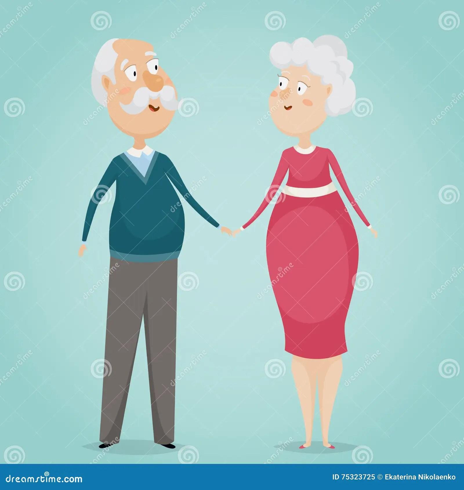 Cartoon People Holding Hands 2