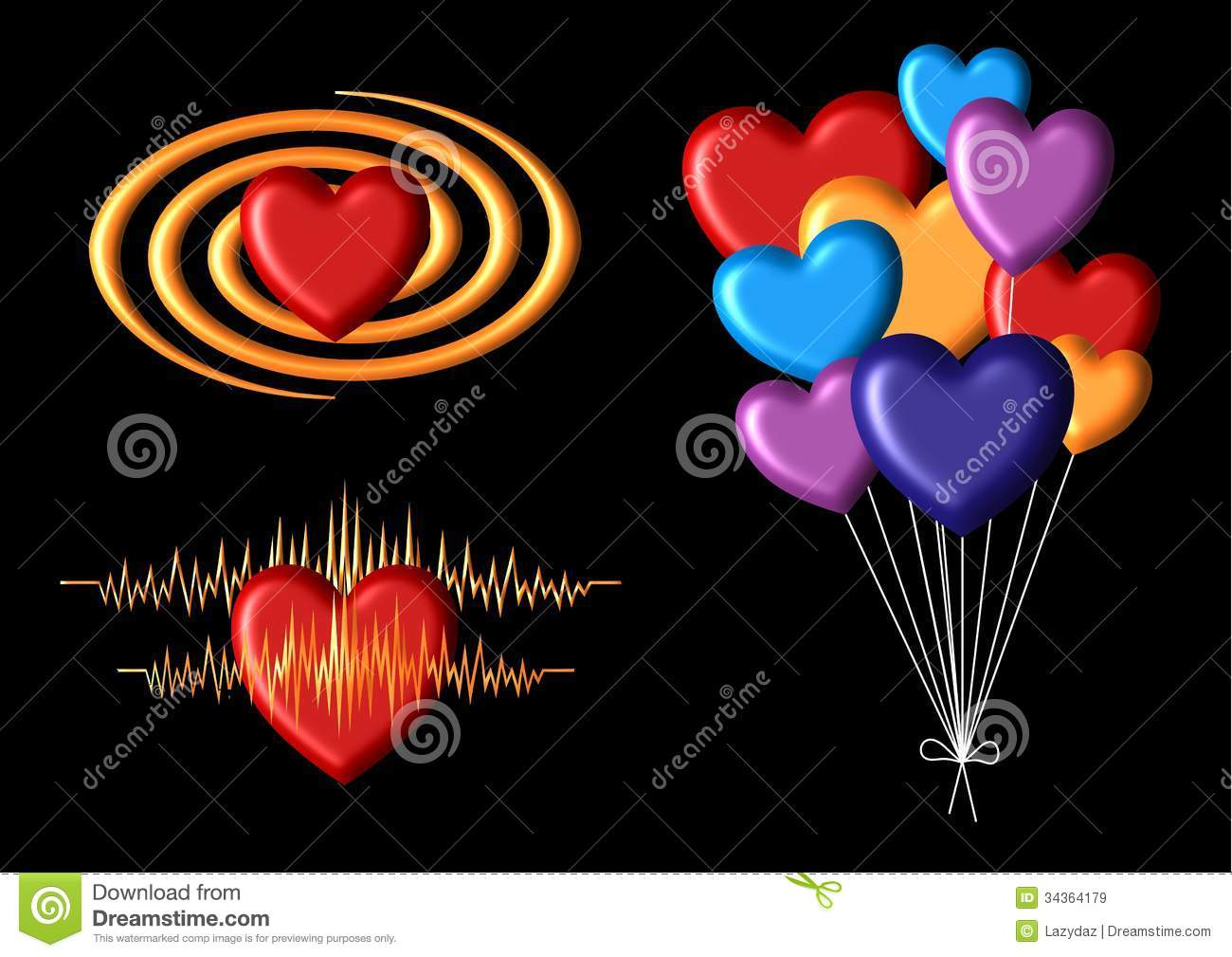 Happy Hearts Royalty Free Stock Images Image 34364179