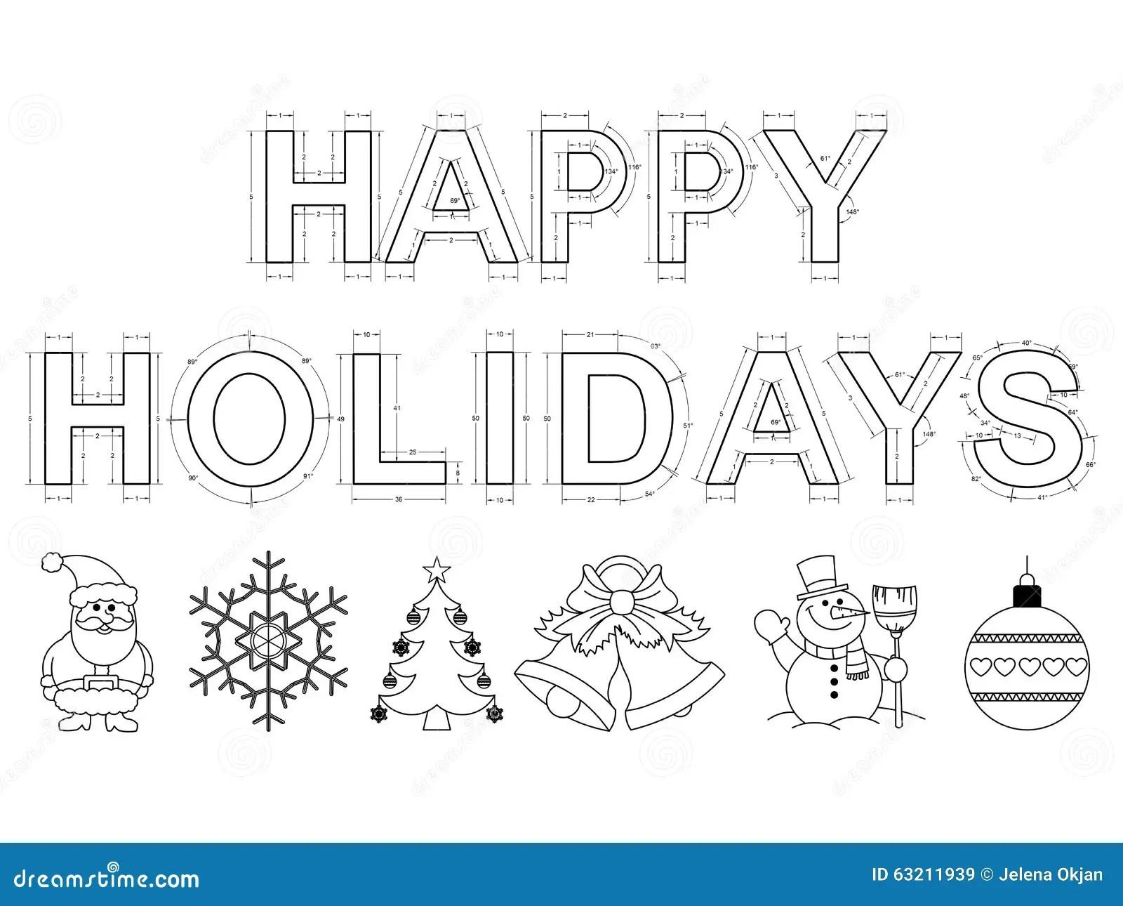 Happy Holidays Blueprint