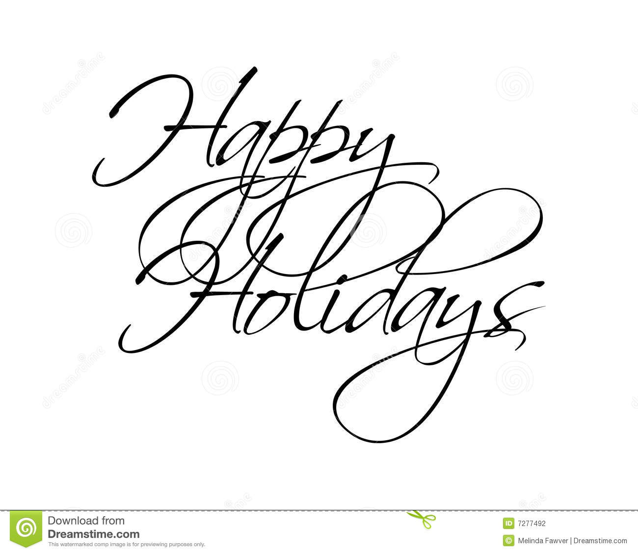 Happy Holidays Type Stock Vector Illustration Of Script