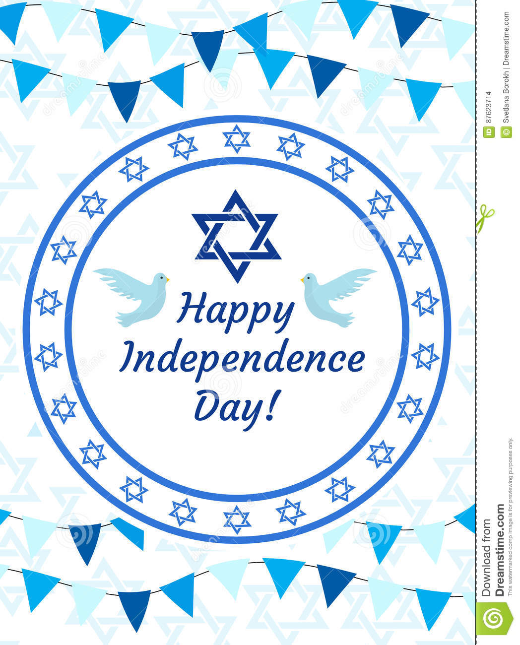 Happy Israel Independence Day Greeting Card Poster Flyer