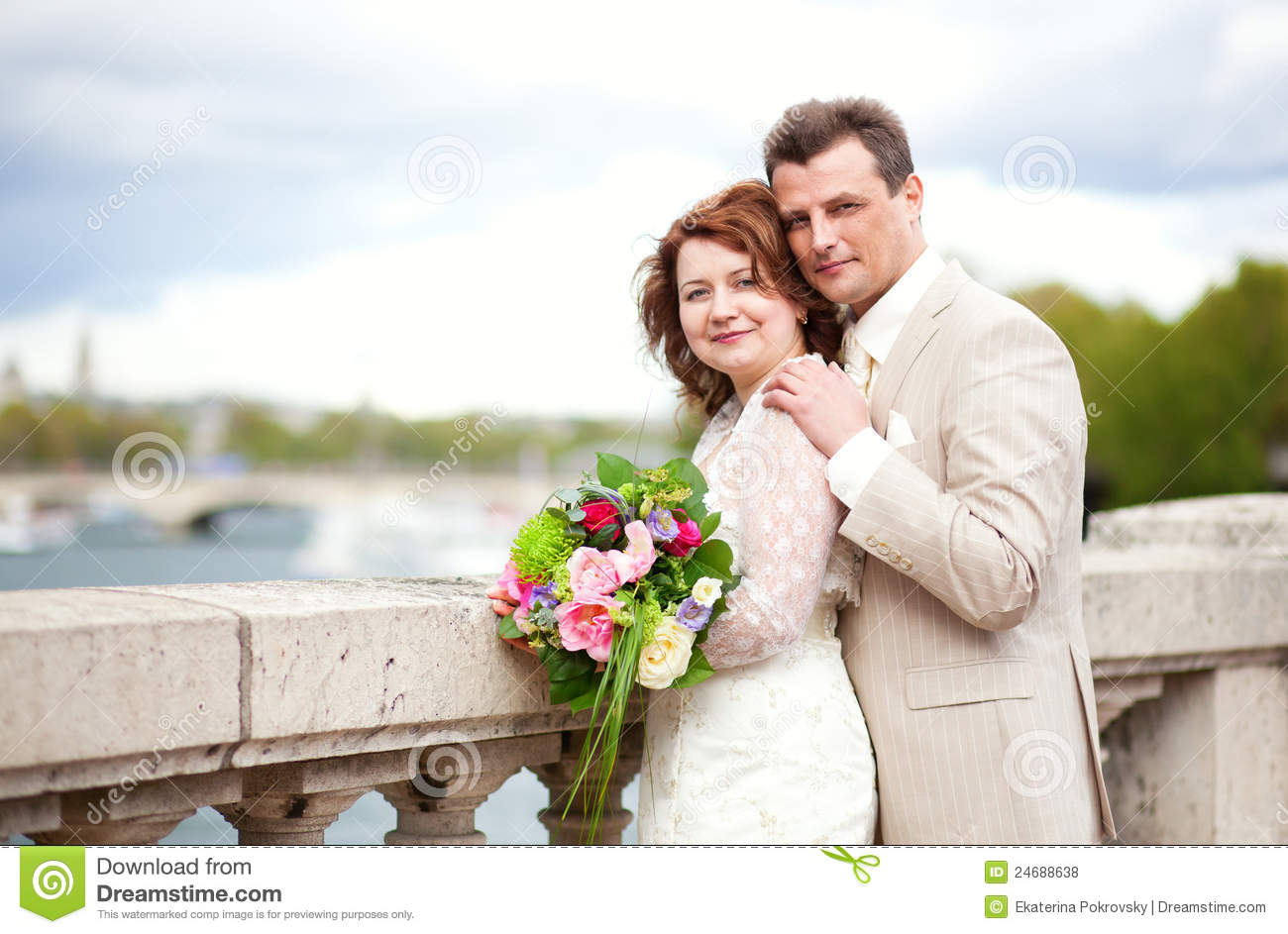 Happy Just Married Couple Stock Photo Image Of Couple