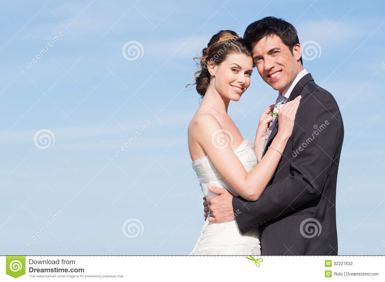 Happy Married Couple Stock Photo Image Of Feeling Gown