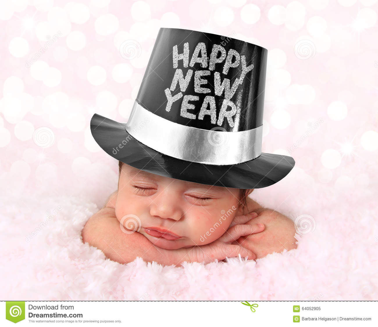 Happy New Year baby stock image  Image of little  adorable   64052905 Happy New Year baby