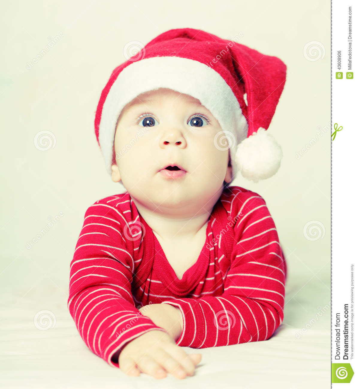 Happy New Year Baby In Santa Hat  Christmas Stock Photo   Image of     Download Happy New Year Baby In Santa Hat  Christmas Stock Photo   Image of  santa