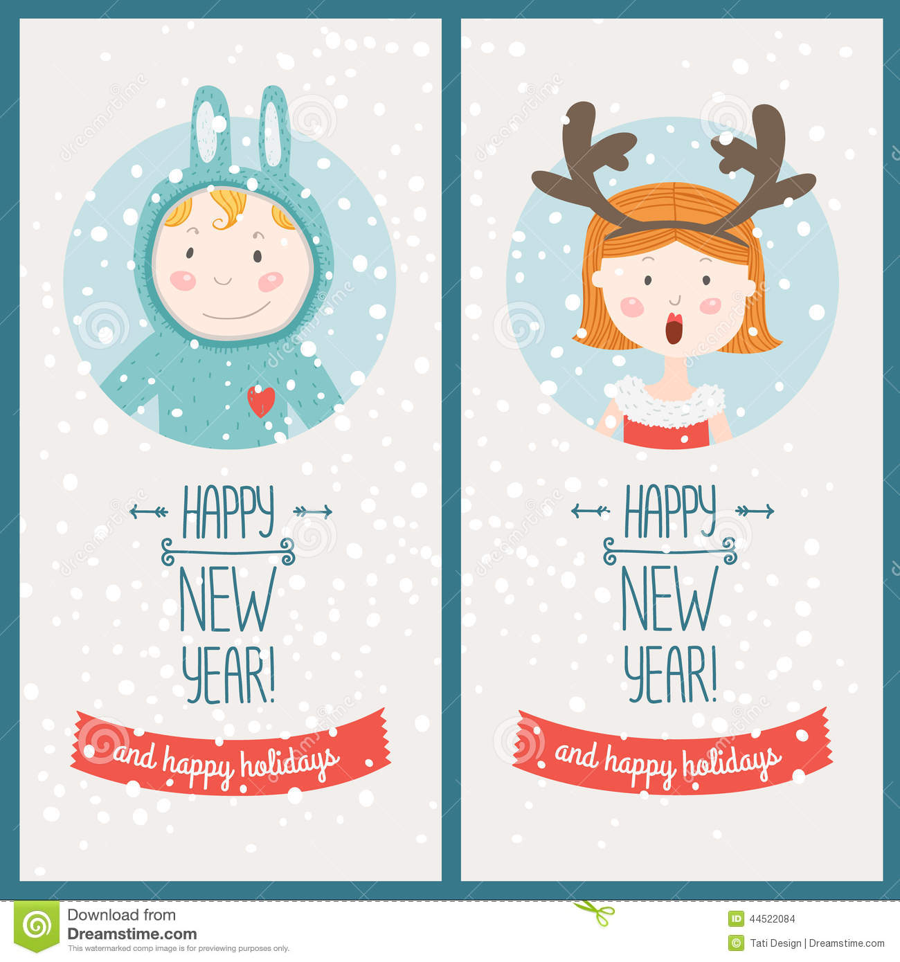 Cute new year cards merry christmas and happy new year 2018 cute new year cards m4hsunfo