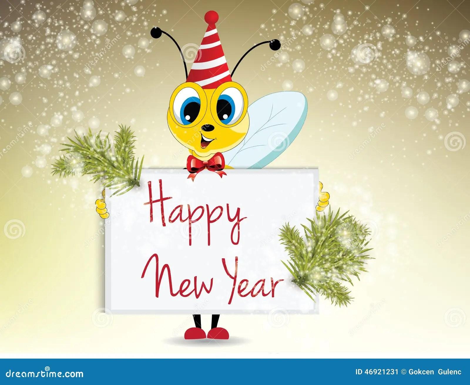 Happy New Year Stock Illustration Image Of Animal