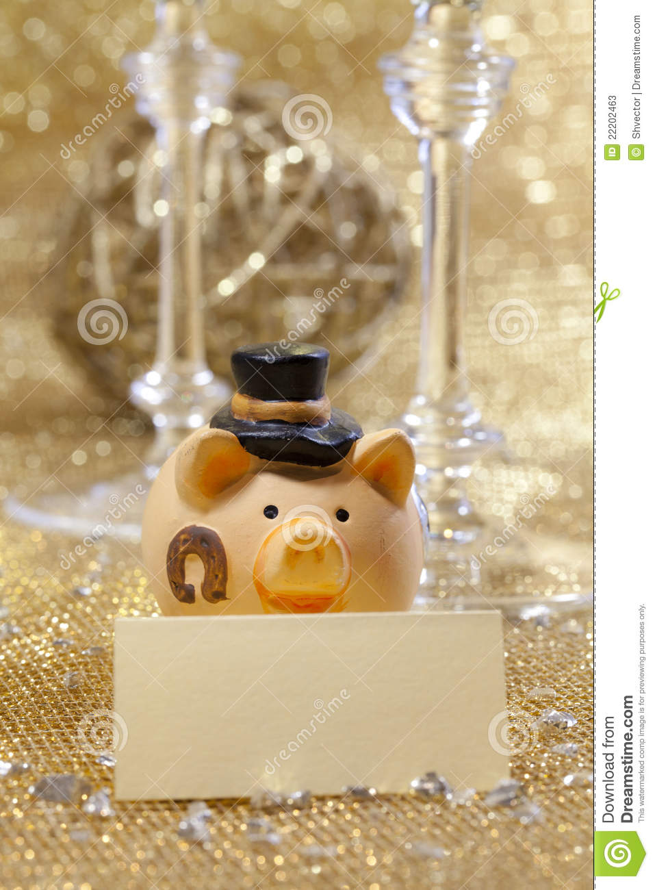 Happy New Year Pig Stock Photos Image 22202463