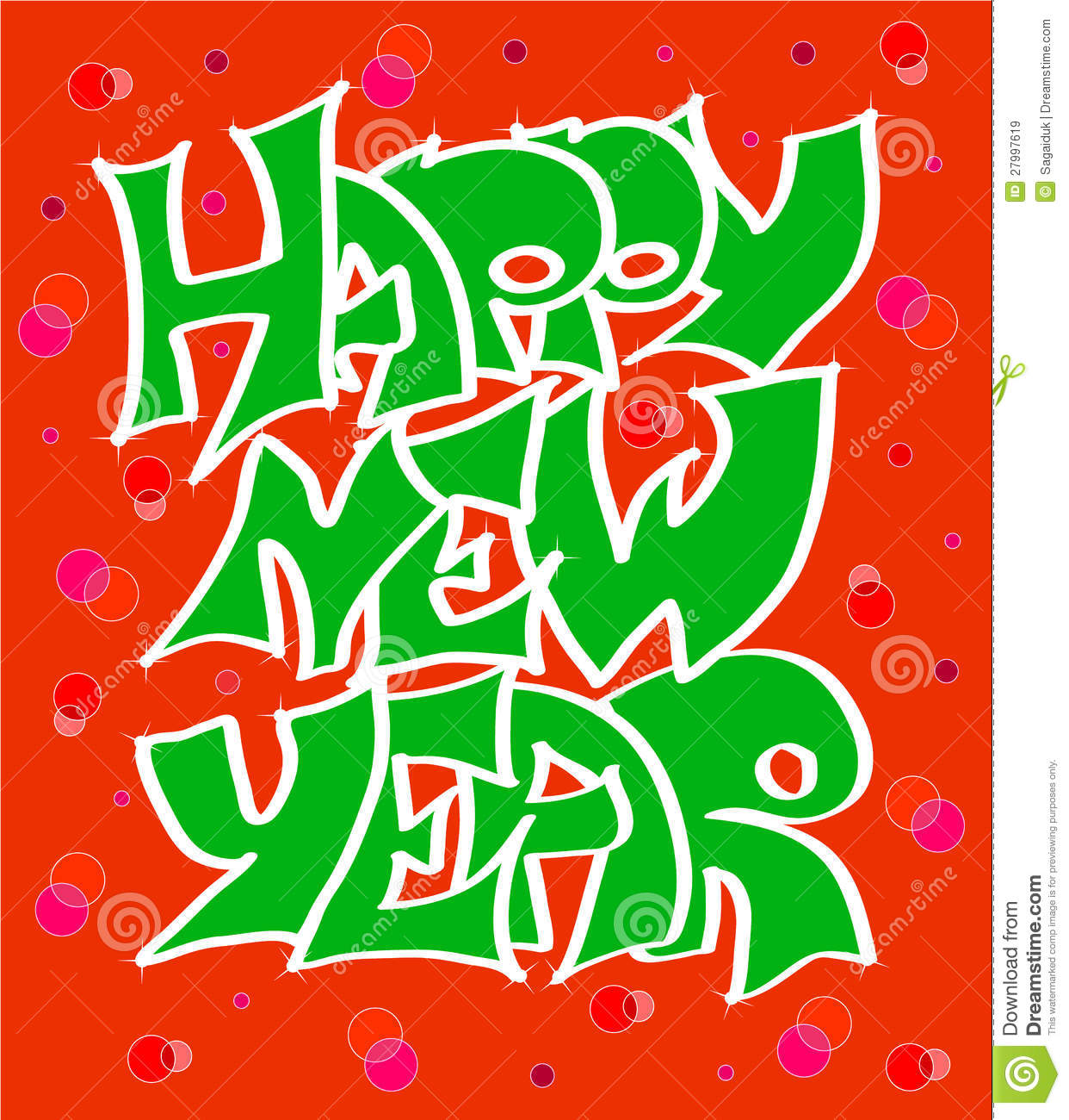 Happy New Years Graffiti Royalty Free Stock Images