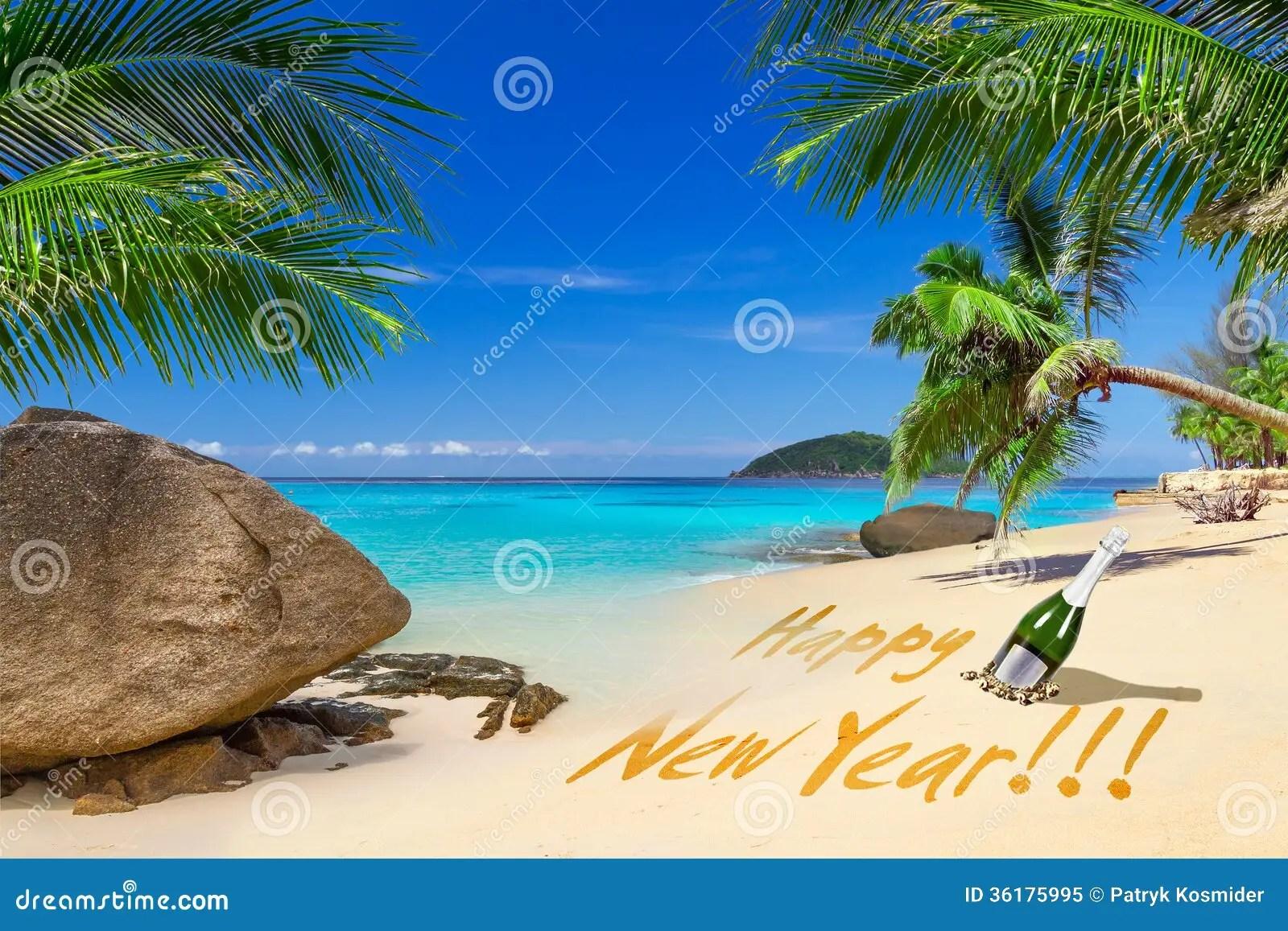 beach happy new year
