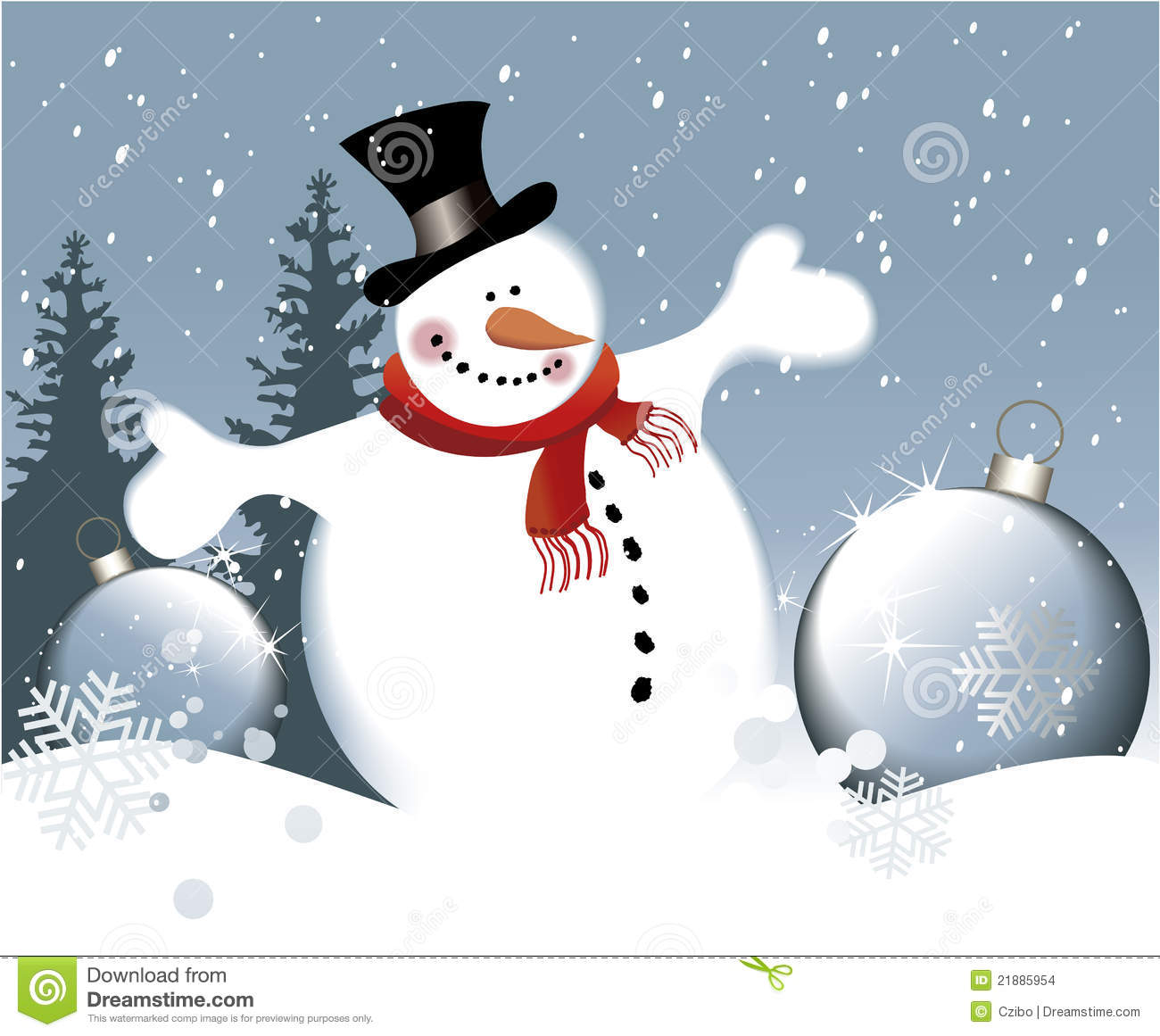 Happy Snowman Stock Images Image 21885954