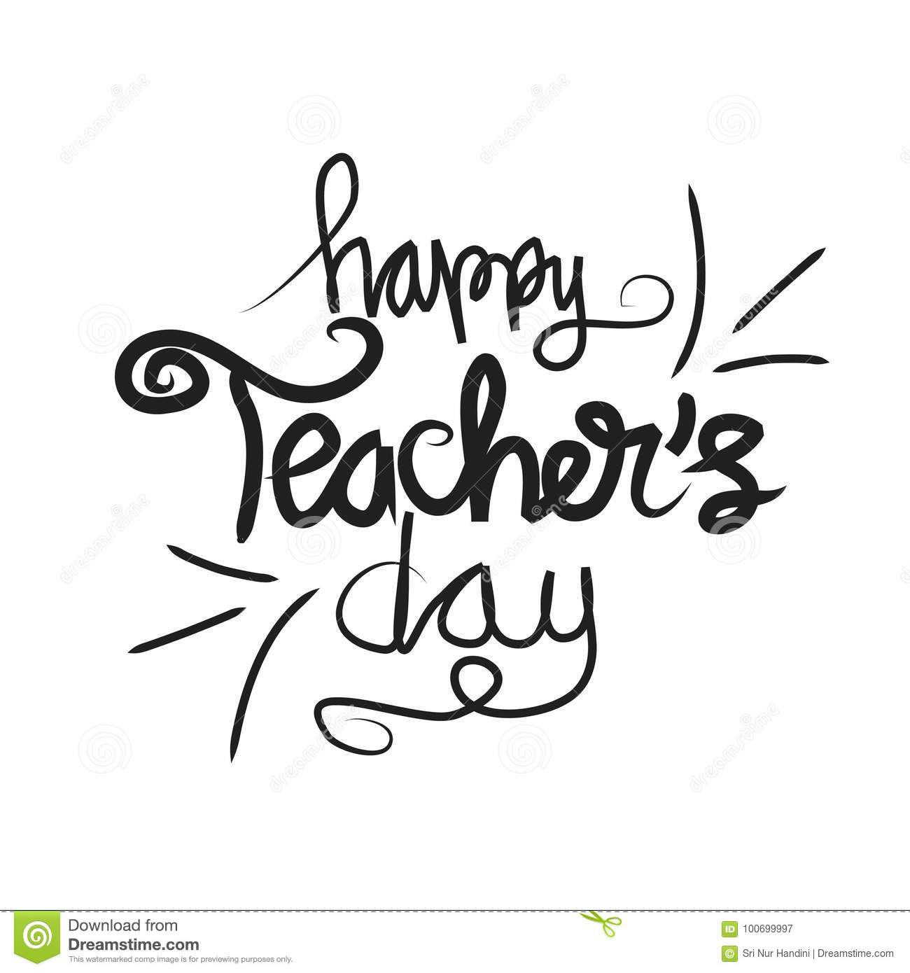 Happy Teachers Day Stock Vector Illustration Of Cartoon