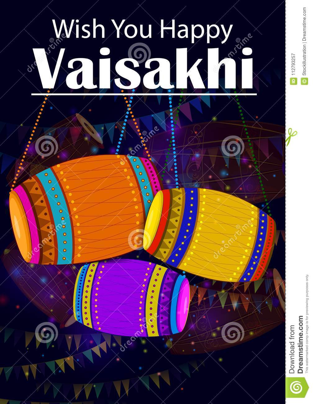 Happy Vaisakhi Punjabi Religious Holiday Background For New Year     Download Happy Vaisakhi Punjabi Religious Holiday Background For New Year  Festival Of Punjab India Stock Vector