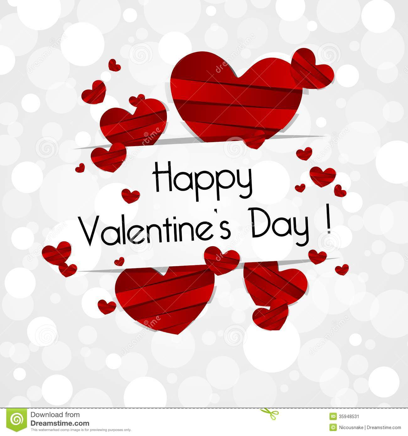 Happy Valentines Day Card Stock Vector Illustration Of