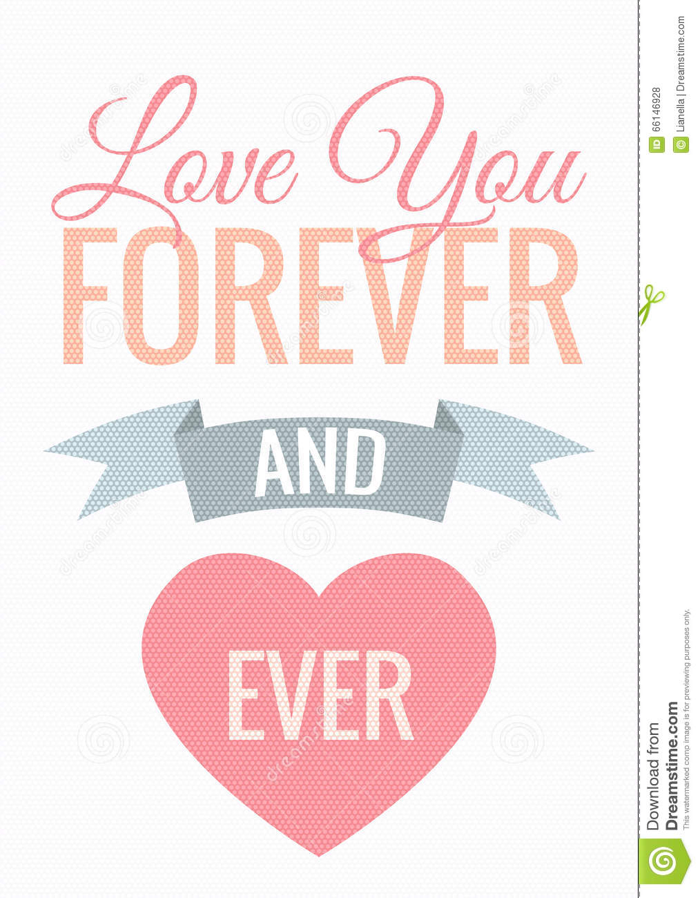Happy Valentines Day Card Stock Vector Image 66146928
