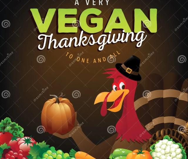 Happy Vegan Thanksgiving Greeting Card Design
