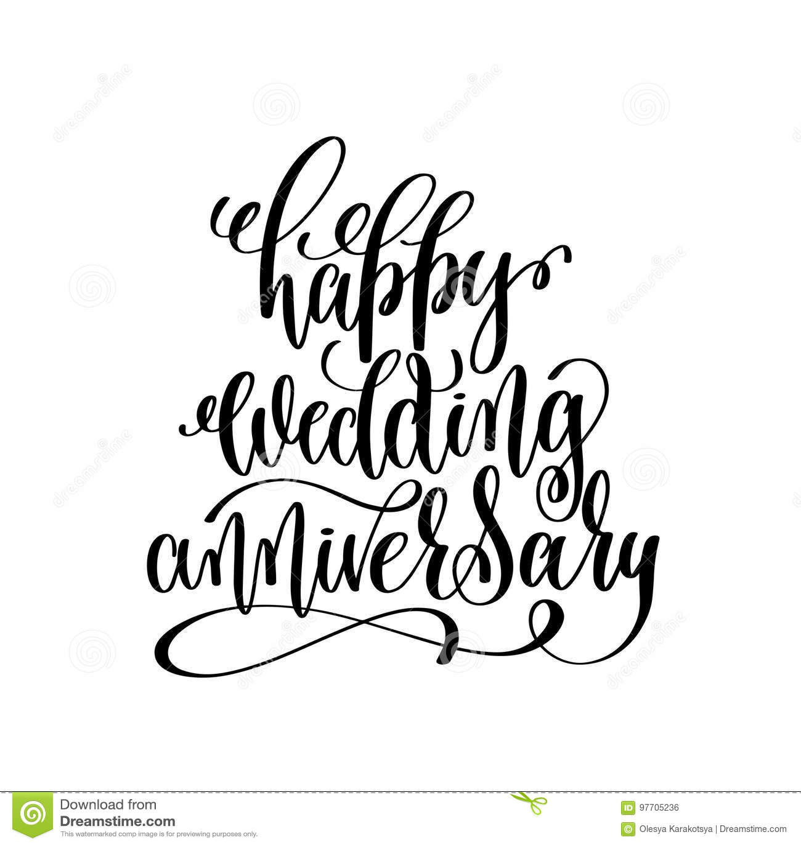 Happy Wedding Anniversary Stock Image