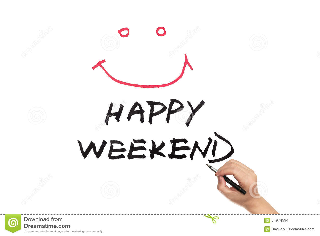 Happy Weekend Royalty Free Stock Photography