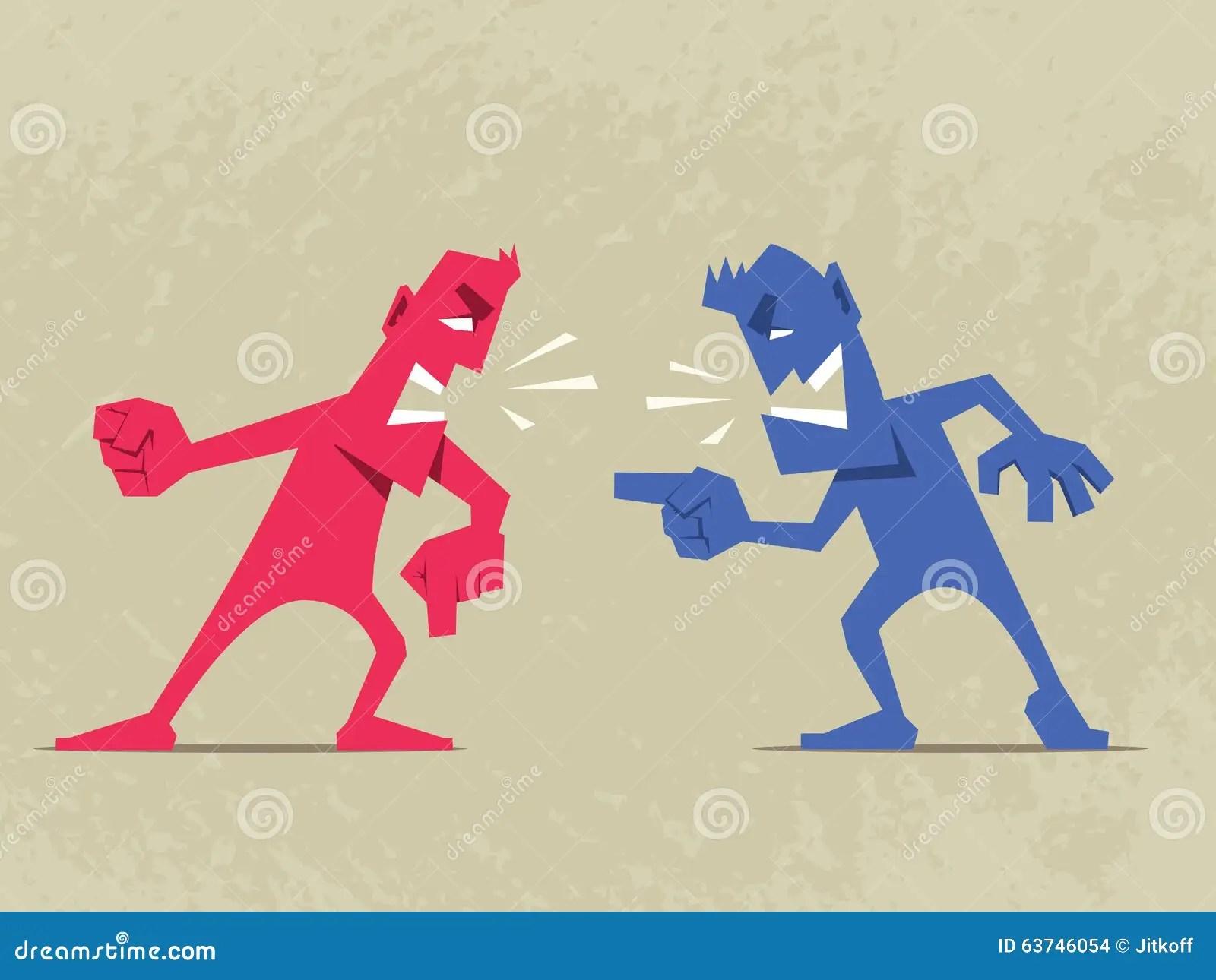 Hard Conversation Stock Vector Illustration Of Rage