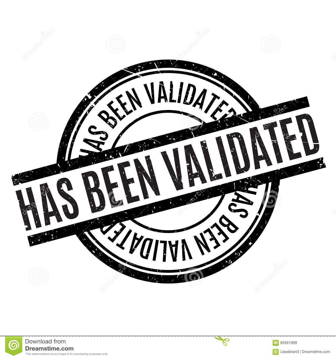 Has Been Validated Rubber Stamp Stock Image