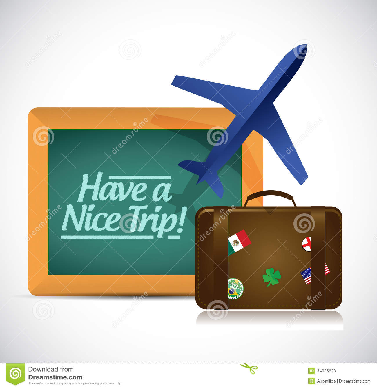 Have A Nice Trip Travel Concept Illustration Stock
