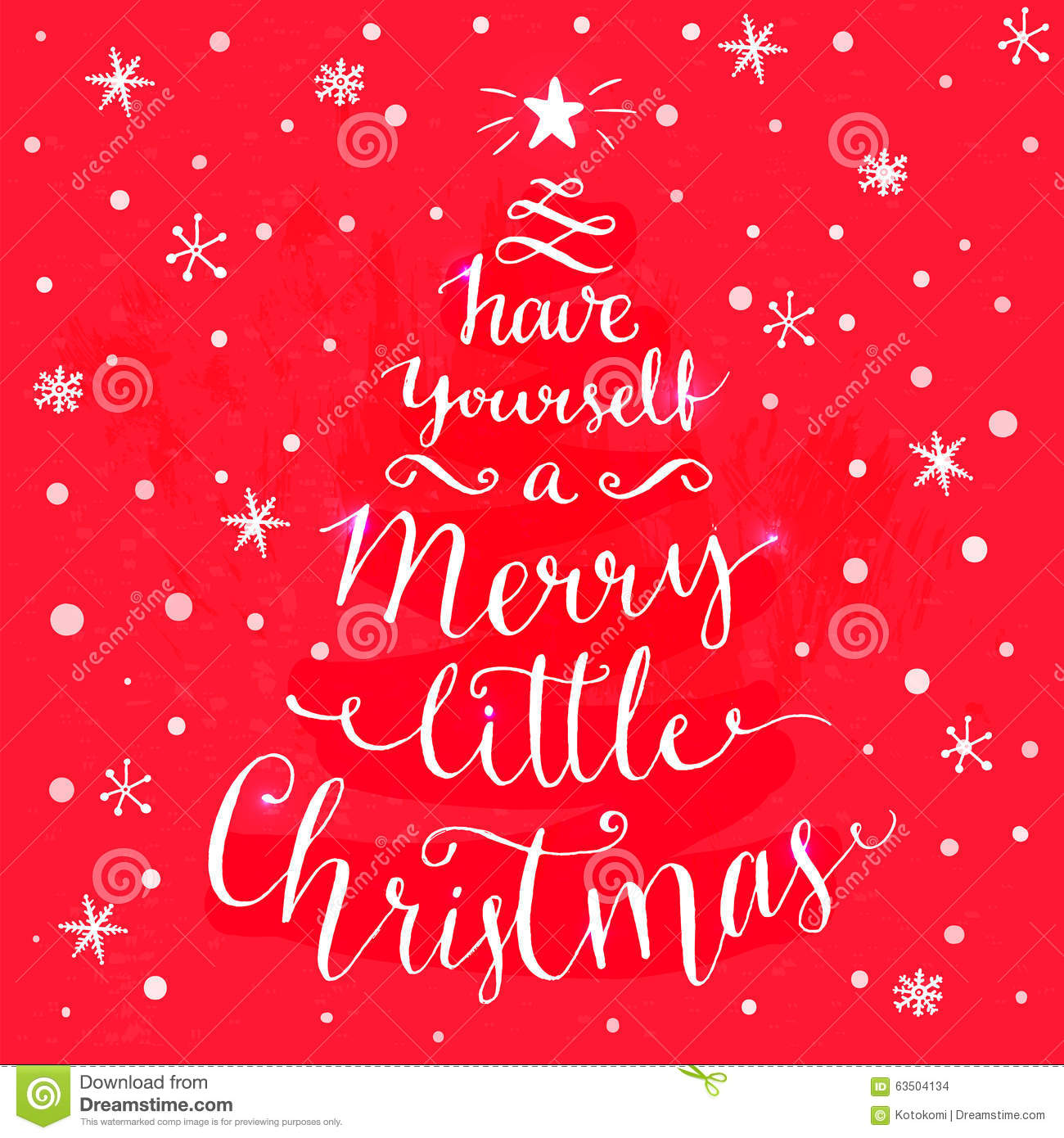 Have Yourself A Merry Little Christmas Whimsical Stock