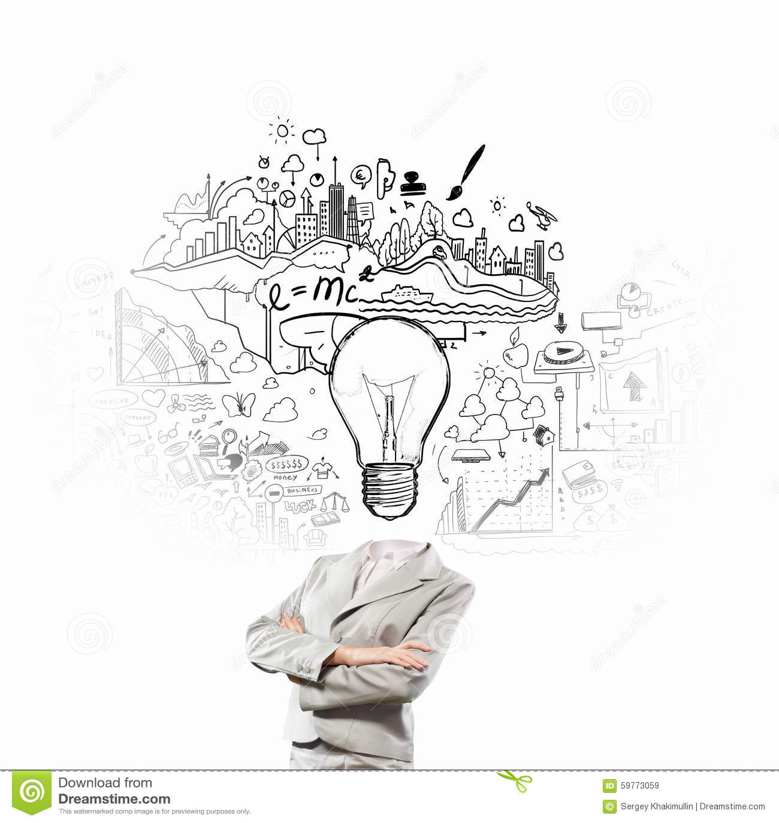 Head Full Of Ideas Stock Photo